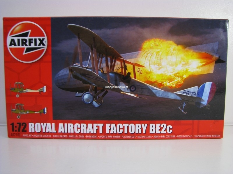 Royal Aircraft Factory BE2c stavebnice 1:72 Airfix